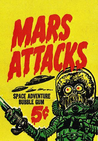 Norman Saunders - Mars Attacks - they were the hottest thing on the playground when I was10. I actually had a complete set, which my mother threw out when I was in college.: