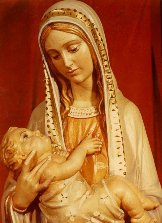 Hand Carved Wood Statue Of Mary-Our Lady Of Providence ...
