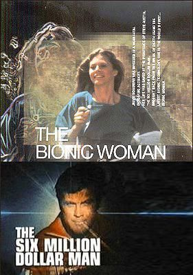 We watched the Six Million Dollar Man & Bionic Woman! I peed so fast during the commercials! Kelley did a great impression of Jamie Sommers with the hands through the bangs!