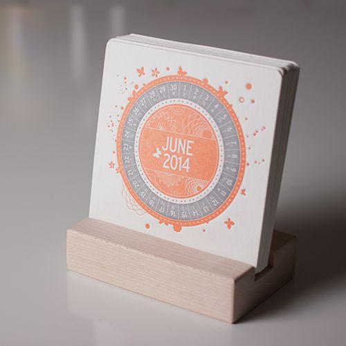 COLOURFUL - A Letterpress Desk Calendar BEAUTIFUL!