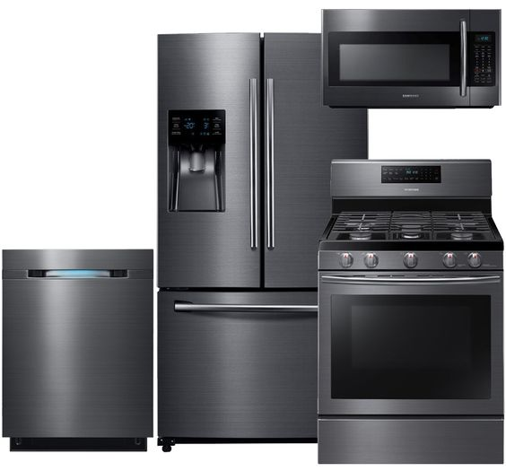 Samsung Black Stainless Kitchen Suite