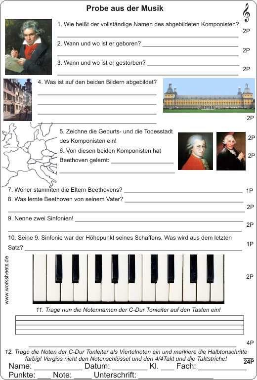 Ludwig Van Beethoven Lebenslauf Curriculum 8
