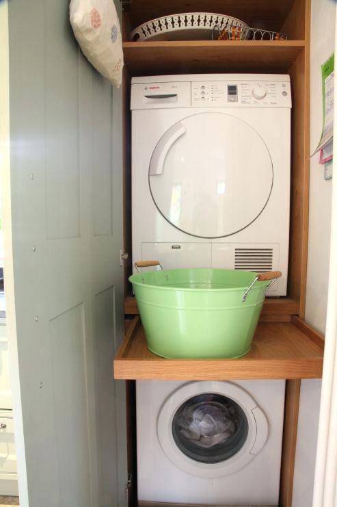 Slim Shelf Between Washer And Dryer Slim Cabinet Between Washer And Dryer Shelf Between S Washer And Dryer Small Laundry Closet Small Laundry Room Organization