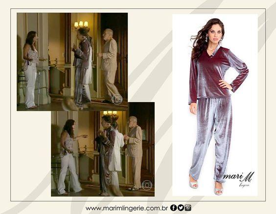 Pijama Mari M Lingerie na novela Em Família!!!