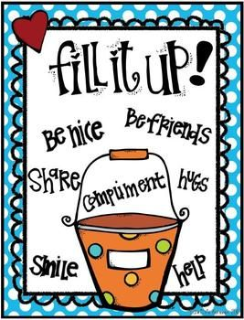 BUCKET FILLER POSTERS {FREEBIE} - If you haven't read the book read it! Are you a bucket filler is the best program I've seen to build a classroom community!