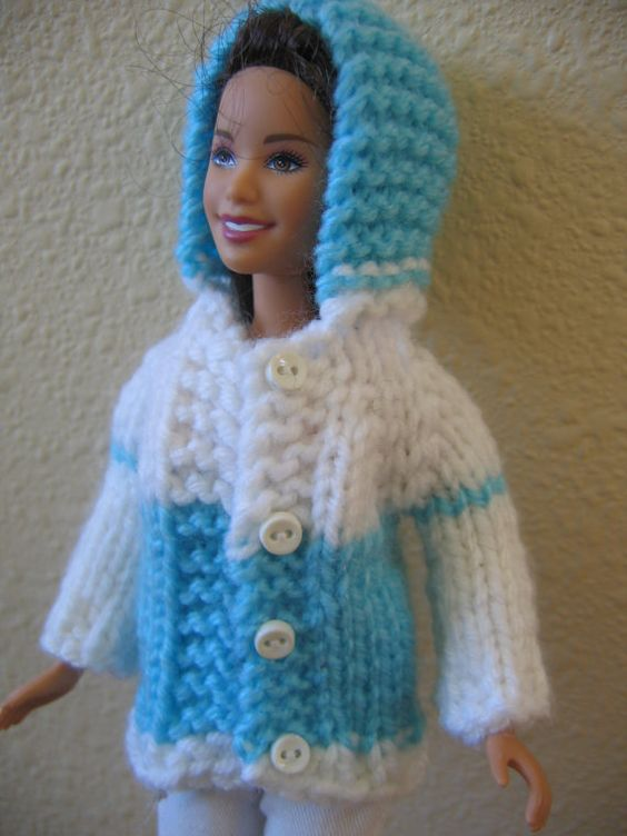 Skipper Doll Clothes Hand Knit Hooded by Love2KnitDollClothes, $7.50