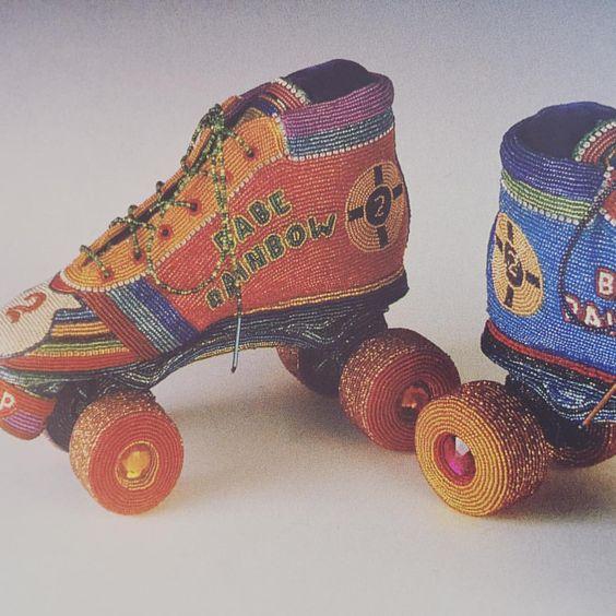 beadwork inspiration no. 4 'Babe Rainbow Skates' by Tom Wegman-2003 #contemporary #art #beadwork #tomwegman