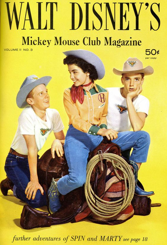 Walt Disney's Mickey Mouse Club Magazine — The Mickey Mouse Club (1955-60, ABC) — David Stollery as 'Marty Markham', Annette Funicello & Tim Considine as 'Spin Evans'