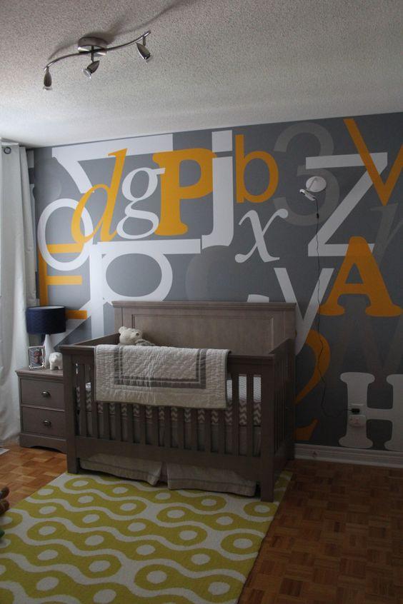 Alphabet Wall in the Nursery -