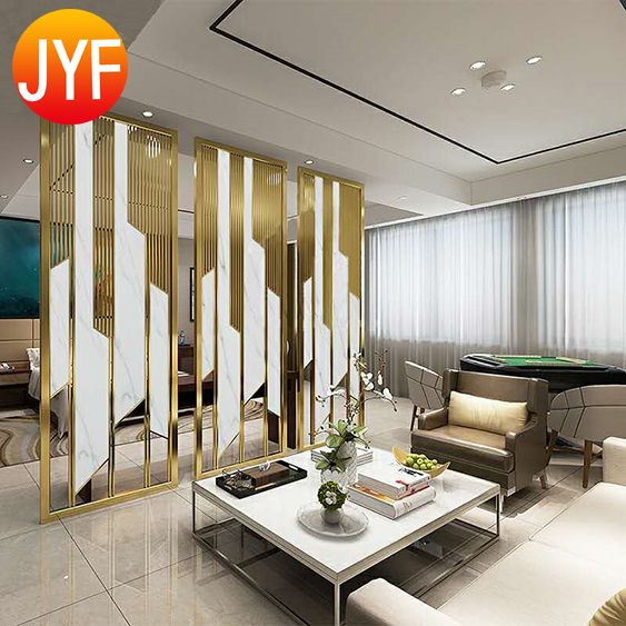 Stainless Steel Room Divider In 2020 Decorative Sheets Room Divider Decor