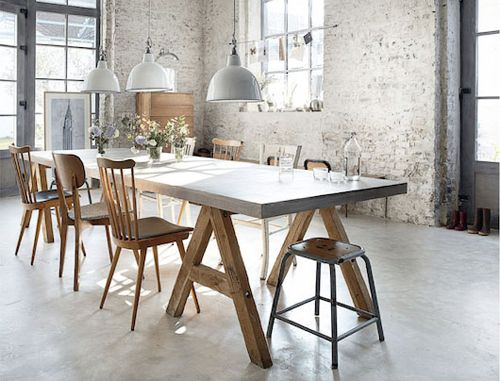 Loft industriel scandinave lille r novation et style for Table de salle a manger hemisphere sud