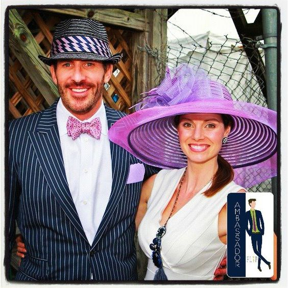 Tom, a FLIP Ambassador, recently sent us this pic of his lovely wife & himself looking fantastic for a day at the races! Tom looks great in a Tom James suit (he found @ FLIP!) & well-coordinated bow tie & pocket square! Thanks Tom & you both look great!
