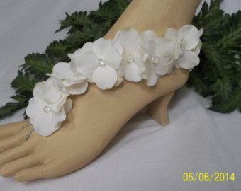 Wedding Barefoot Sandals Bridal Barefoot Sandals von BeDazzledShop