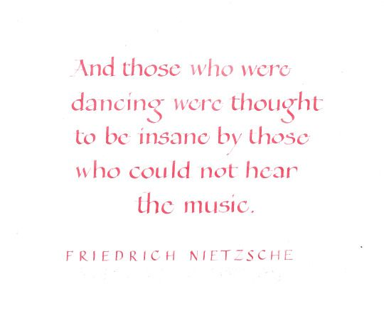 Dance to your own music...