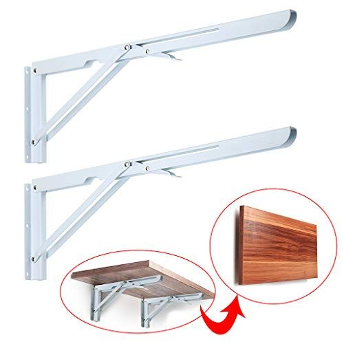 Sumnacon Sturdy Folding Shelf Brackets Heavy Duty White Https Www Amazon Com Dp B07tvxh4g Folding Shelf Bracket Heavy Duty Shelf Brackets Shelf Brackets