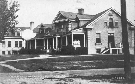 Pinner wrote~ The old Hubbard Hospital in Bad Axe, MI. It was turned into Hospitality Apts. I used to live in the old operating room.