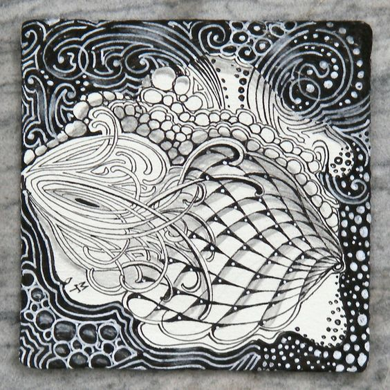 Tangle by maria thomas art doodle inspiration