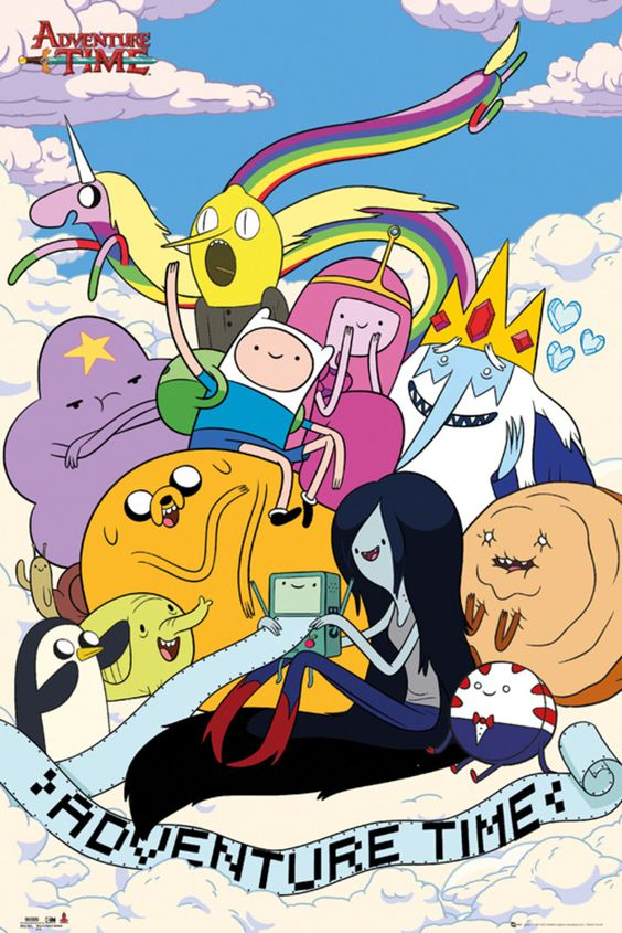Adventure Time Clouds - Official Poster. Official Merchandise. Size: 61cm x 91.5cm. FREE SHIPPING