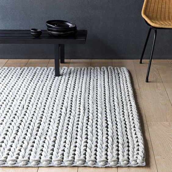 tapis en laine feutr e beige dream ligne pure produits. Black Bedroom Furniture Sets. Home Design Ideas