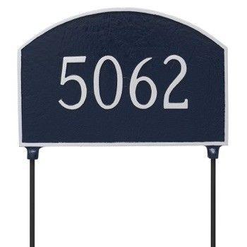 Two-Sided Prestige Arch Address Plaque Lawn 1 Line