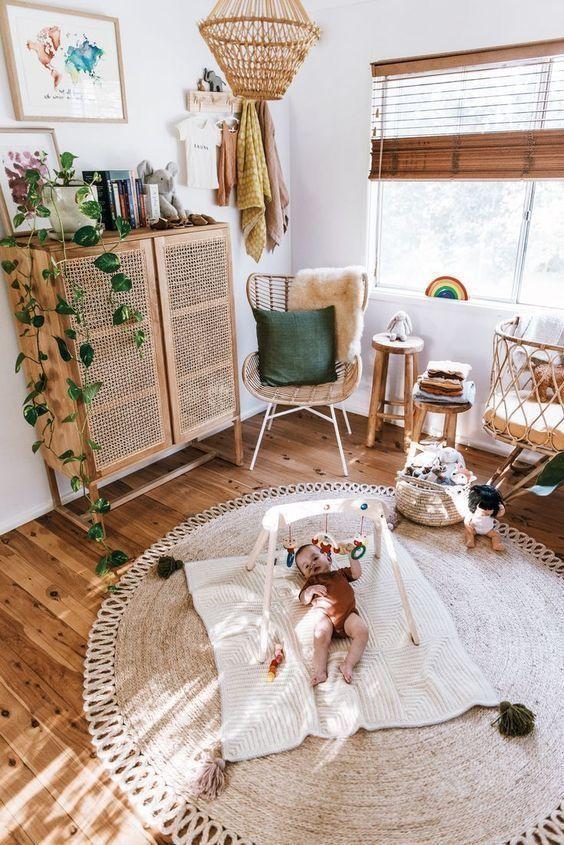 Rattan Nursery Simplenursery Rattandresser Ariel Deyoung Ariel Deyoung Nursery Bohemian Living Room Decor Wood Bedroom Furniture Children Room Boy #nursery #in #living #room