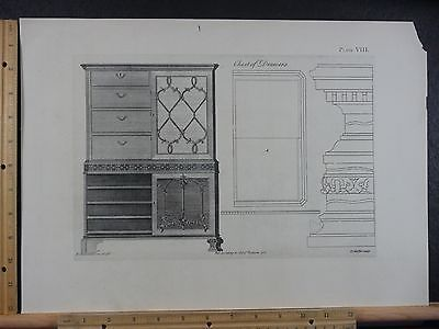 Rare Antique Original VTG Period Design Chest Of Drawers Engraving Art Print https://t.co/gmec58OpMM https://t.co/BCUHtR55X1