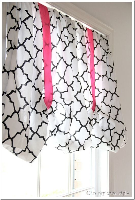 Fitted Sheet No-Sew Window Treatment.: Fitted Sheets, No Sew Curtain, Girls Room Window Treatment, Kitchen Window, Girls Window Treatment, Living Room, Sheet Curtain