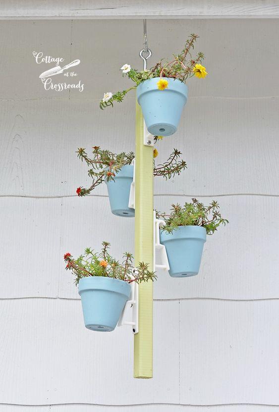 hanging terracotta pot holder | Cottage at the Crossroads