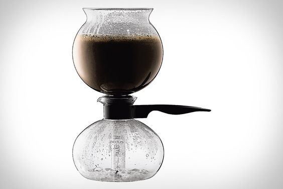 Bodum Pebo Vacuum Coffee Maker ($80). Thanks to its unique vacuum brewing method, it extracts all the flavorful oils in your coffee without changing or hiding the flavor with a metal or paper filter, and seals in the aroma so every pot smells as fresh as it tastes.
