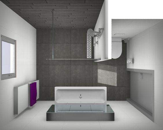 Kleine Badkamer Plan ~ Ontwerp kleine badkamer http  www kleinebadkamers nl  HaMa Design