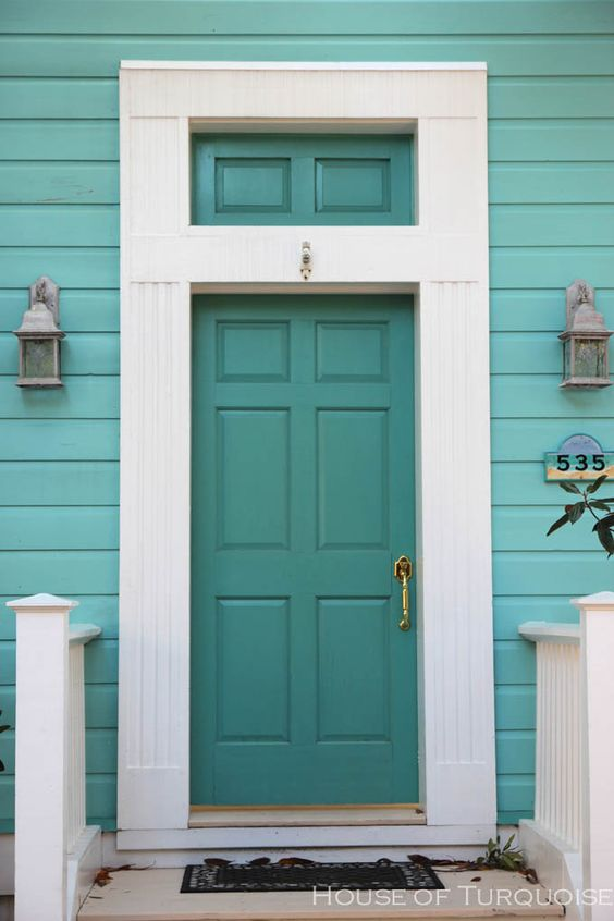 Turquoise Houses of Seaside, Florida:
