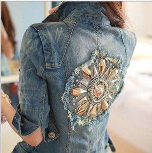 2013 spring new Korean female short paragraph jacket denim jacket denim jacket denim jacket women coat free shippingF01