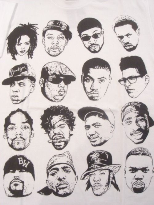 If these aren't great faces, I don't know who will ever be greater #HipHop #Portraits #Doodles