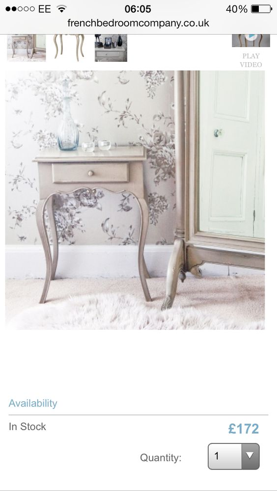 Bedside table - french - big enough to store stuff - no garish colours or marble - Alcoves: Right 79cm x 36 without skirtings  Left 85cm x 36