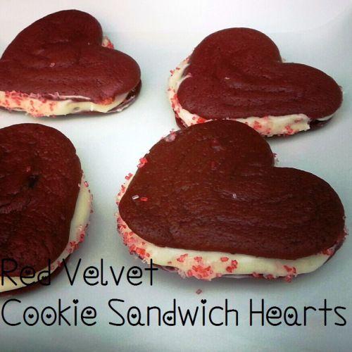 Red Velvet Heart Sandwiches for Valentine's Day