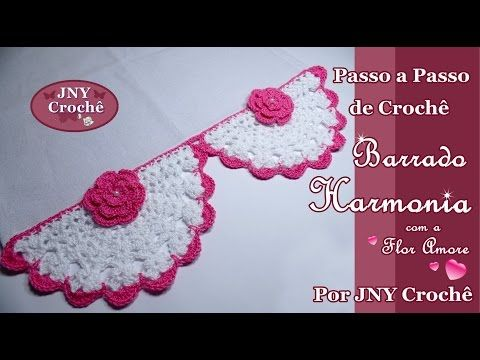 Passo a Passo de Crochê Barrado Harmonia por JNY Crochê - YouTube