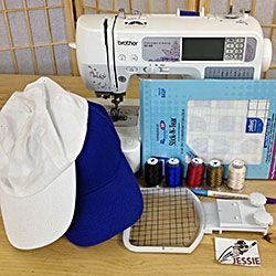 How To Embroider A Cap Embroidering Machine Sewing Embroidery Designs Machine Embroidery Applique