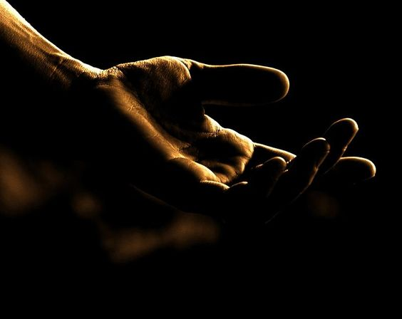 an outstretched hand