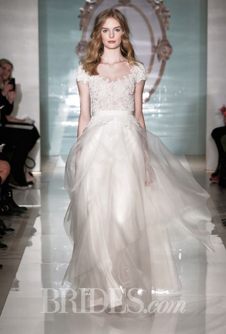 Reem acra wedding dresses spring 2015 bridal runway for Reem acra lace wedding dress