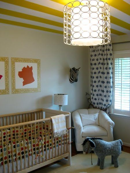 Hudson Baby Design: Nursery of the Week: Cirlces and Stripes