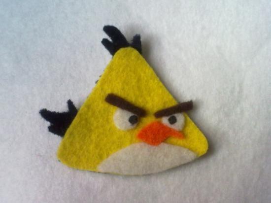 anrgy birds amarillo broche de fieltro fieltro fieltro