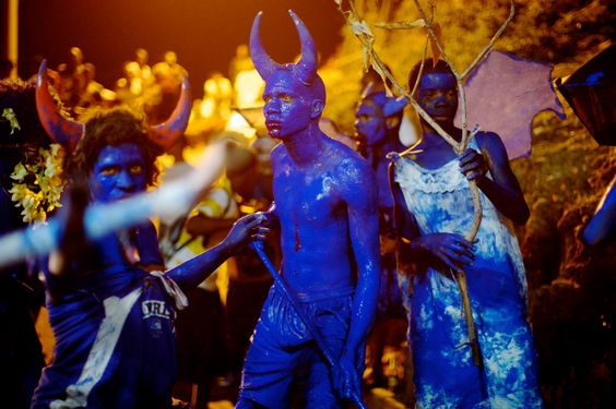 Blue Devils for Jouvert in Trinidad: