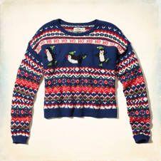 Remarkable Penguin Sweater Hollister Pinterest Penguins Shops And Girls Easy Diy Christmas Decorations Tissureus