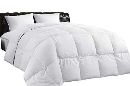 Lightweight Down Comforter Allseason Medium Warmth 100 Cotton Cover Hypoallergenic Quilted Duvet With Corner Tabs Soft Down Comforter Comforters Quilted Duvet