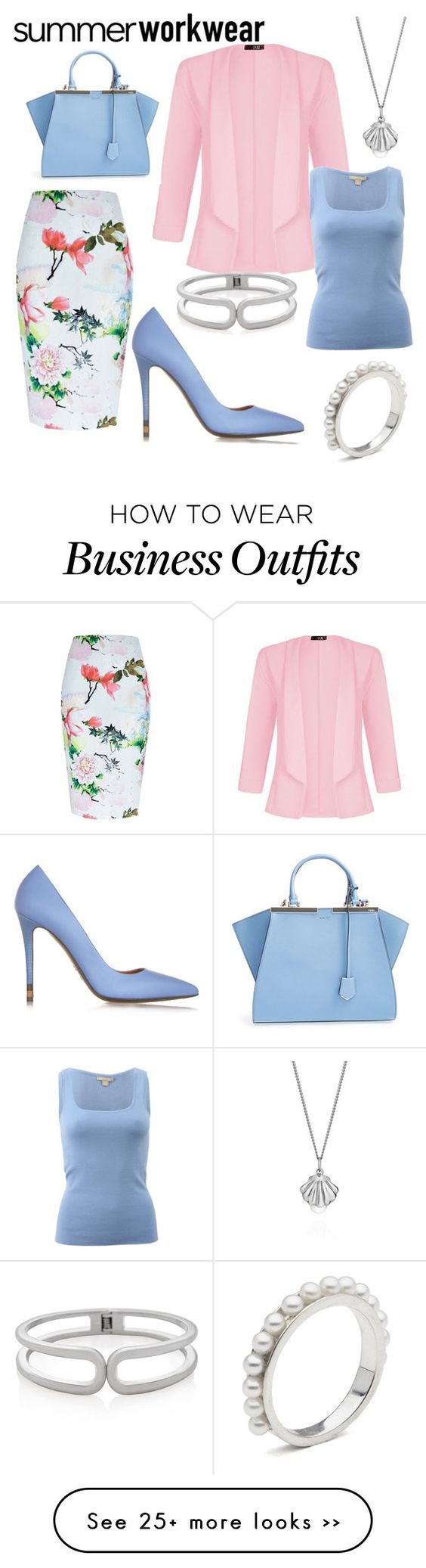 """summer work wear"" by sheena-sapphire on Polyvore"