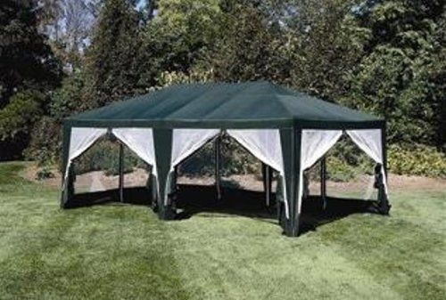 Deluxe Party Tent Sun Shelter 20ft X 12ft In Green