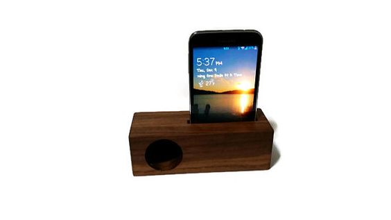 Wood Cell Phone Passive Amplifier/Holder Galaxy S5 FREE by Ntoys  $31.99 Lowest online price!!!! Solid Walnut!!! #Christmasgifts #perfectgift