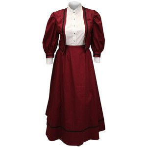 Ladies Edwardian Suit Burgundy