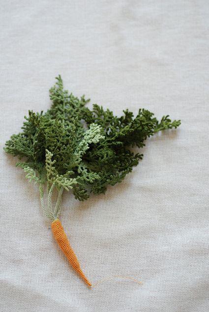 Овощи, связанные крючком