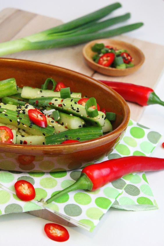 Korean Cucumber Salad: